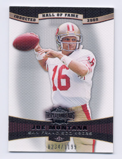 2006 Topps Triple Threads #38 Joe Montana
