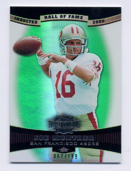 2006 Topps Triple Threads Emerald #38 Joe Montana