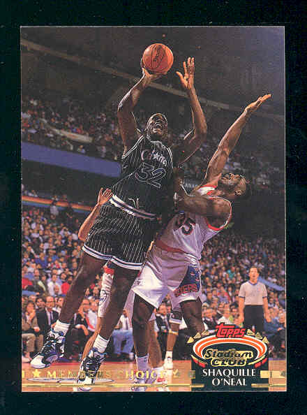 1992-93 Stadium Club #201 Shaquille O'Neal MC