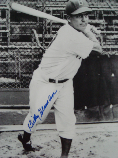 Billy Herman autographed 8 x 10 Brooklyn Dodgers picture with PSA Coa