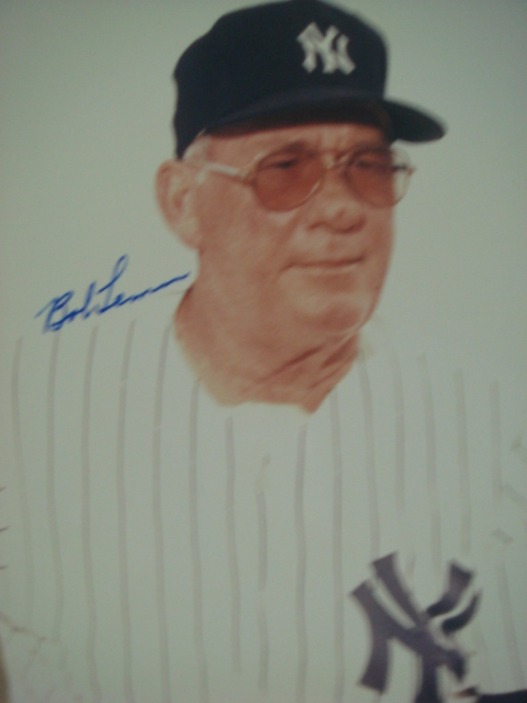 Bob Lemon autographed 8 x 10 Yankee Picture with PSA Coa