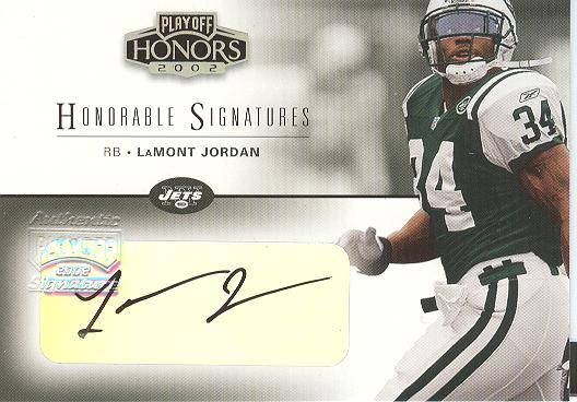 2002 Playoff Honors Honorable Signatures #HS10 LaMont Jordan