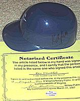  Norfolk Tides sundae mini helmet autographed ( autograph signed ) by KEN OBERKFELL (St. Louis Cardinals, Atlanta Braves, New York Mets)
