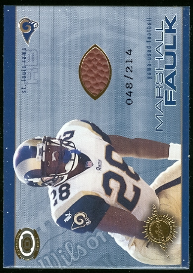 2001 Pacific Dynagon Game Used Footballs #17 Marshall Faulk