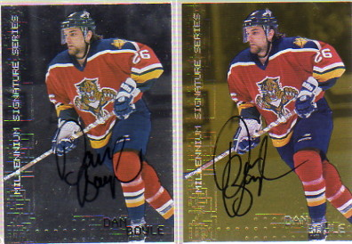 1999-00 BAP Millennium Autographs Gold #114 Dan Boyle