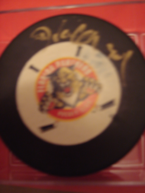 John Vanbiesbrouck Autographed Panthers Hockey Puck With Coa