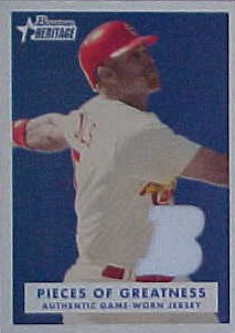 2006 Bowman Heritage Pieces of Greatness White #AP2 Albert Pujols Jsy