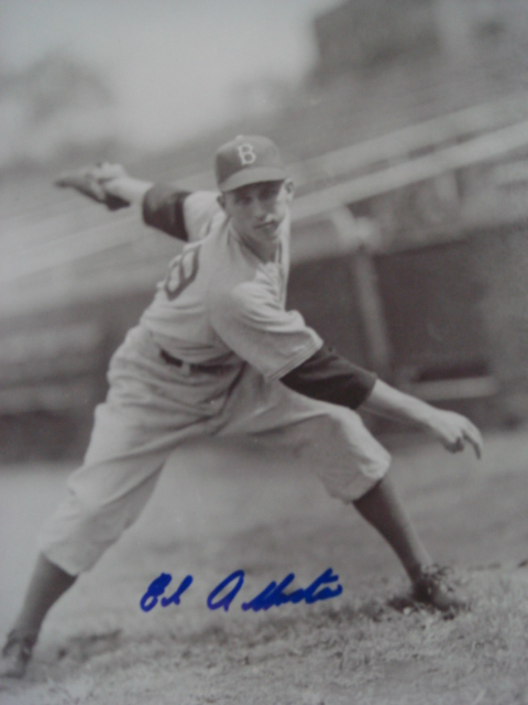 Ed Albosta autographed 8 x 10 Brooklyn Dodger picture with Coa