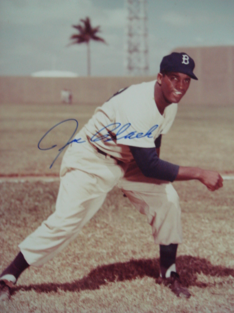 Joe Black autographed Brooklyn Dodger Picture with Coa