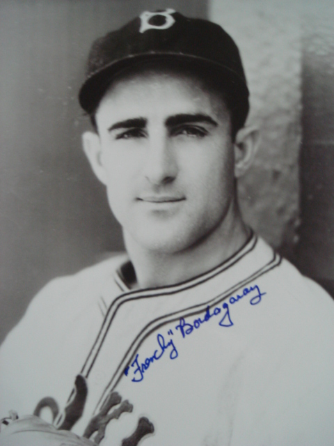 Frenchy Bordagaray Autographed Brooklyn Dodger picture with Coa