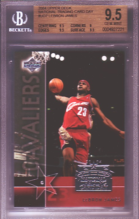 2004 National Trading Card Day #UD7 LeBron James BGS-9.5 GEM MINT front image