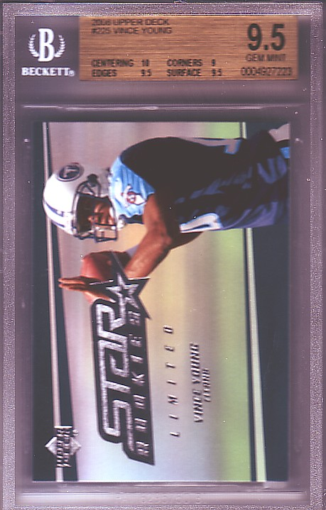 2006 Upper Deck #225 Vince Young RC ROOKIE BGS-9.5 GEM MINT