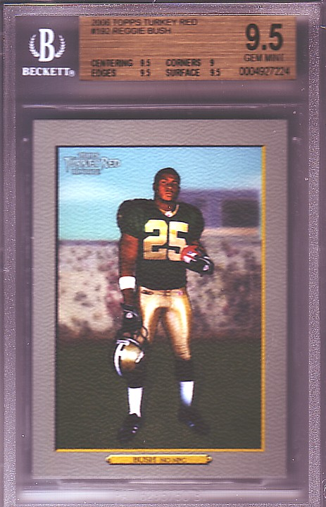 2006 Topps Turkey Red #192 Reggie Bush RC ROOKIE BGS-9.5 GEM MINT