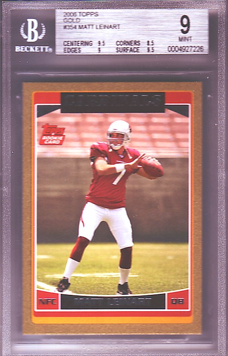2006 Topps Gold #354 Matt Leinart RC ROOKIE #1533/2006 BGS-9.0 MINT