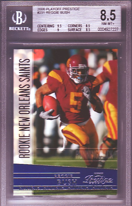 2006 Playoff Prestige #231 Reggie Bush RC ROOKIE BGS-8.5 NM/MT+