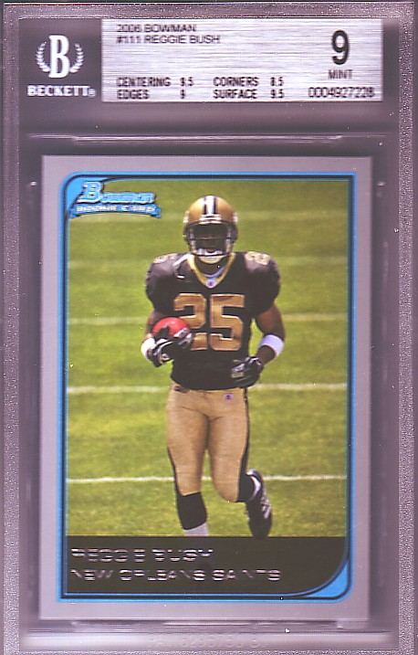 2006 Bowman #111 Reggie Bush RC ROOKIE BGS-9.0 MINT