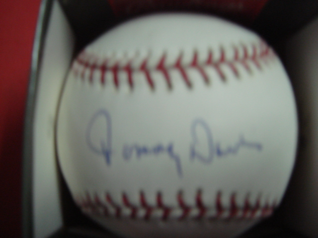 Tommy Davis autographed Official Mlb baseball With Tri Star Coa