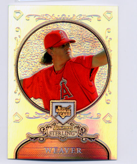 2006 Bowman Sterling Refractors #JW Jered Weaver
