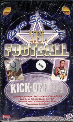 1994 Roger Staubach's NFL Hobby Football Box