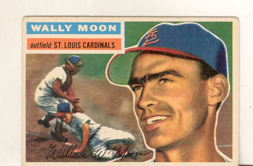 1956 Topps #55 Wally Moon