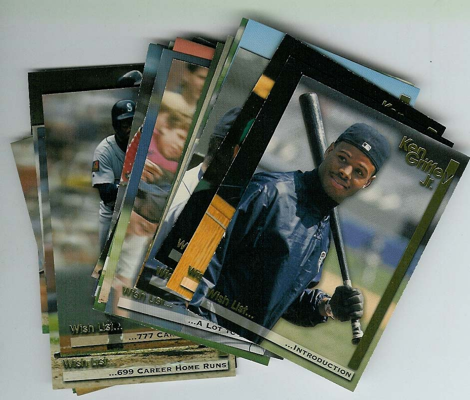 1995 MEGACARDS GRIFFEY COMPLETE SET 25 CARDS