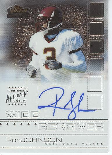 2002 Finest #130 Ron Johnson AU RC