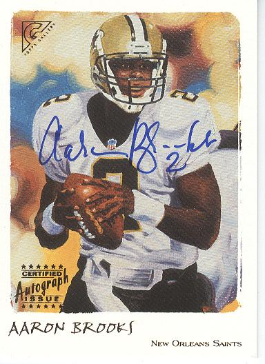 2002 Topps Gallery Autographs Artists Proofs #GAB Aaron Brooks