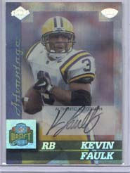 1999 Collector's Edge Advantage Rookie Autographs #165 Kevin Faulk