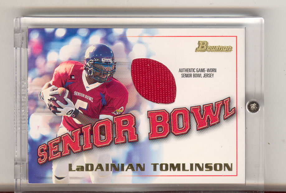 2001 Bowman Rookie Relics #BJLT LaDainian Tomlinson G