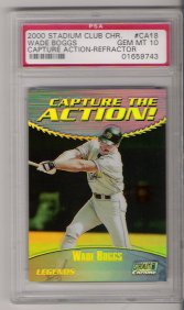 2000 Stadium Club Chrome Baseball #CA18R Wade Boggs Capture the Action Refractor PSA Gem Mint 10
