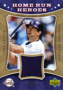 2004 Sweet Spot Home Run Heroes Jersey #TH Todd Helton