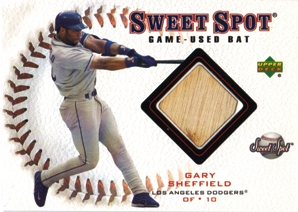 2001 Sweet Spot Game Bat #BGS Gary Sheffield