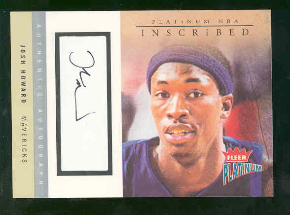 2003-04 Fleer Platinum Inscribed #JHO Josh Howard/250