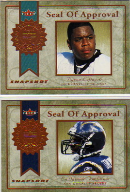 2003 Fleer Snapshot Seal of Approval #9 LaDainian Tomlinson
