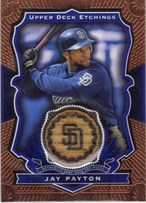 2004 Upper Deck Etchings Game Bat Blue #JP Jay Payton