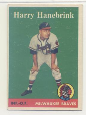1958 Topps #454 Harry Hanebrink RC