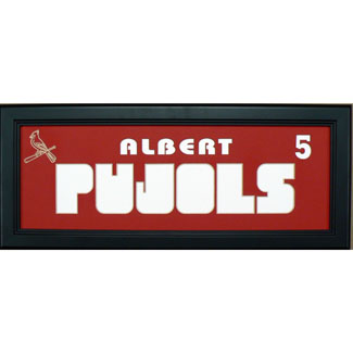 Albert Pujols Cardinals - Sports Card / Photo Black Display Frame