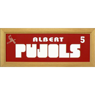 Albert Pujols Cardinals - Sports Card / Photo Natural Display Frame