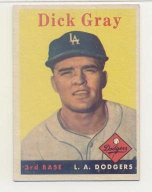 1958 Topps #146 Dick Gray RC
