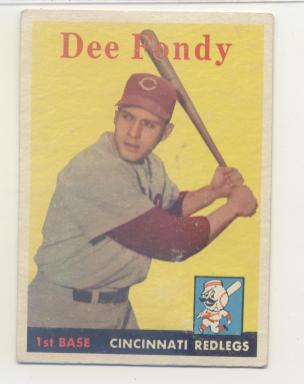 1958 Topps #157 Dee Fondy