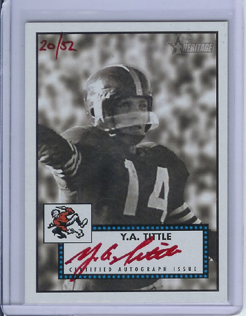 2006 Topps Heritage Real One Autographs Special Edition #ROAYA Y.A. Tittle