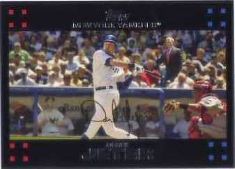 2007 Topps #40a Derek Jeter w Mantle/Bush
