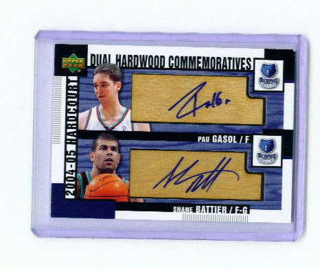 2004-05 Upper Deck Hardcourt Hardwood Commemoratives Dual #GB Pau Gasol/Shane Battier