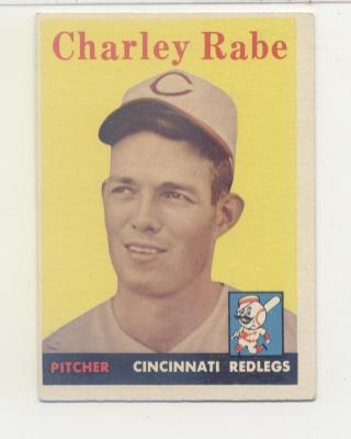 1958 Topps #376 Charley Rabe RC
