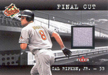 2001 Fleer Genuine Final Cut #19 Cal Ripken