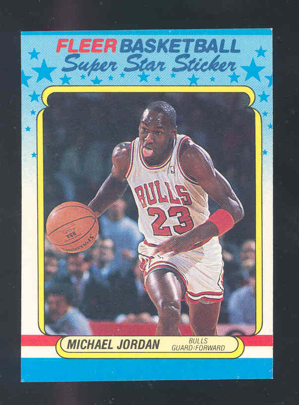 1988-89 Fleer Stickers #7 Michael Jordan