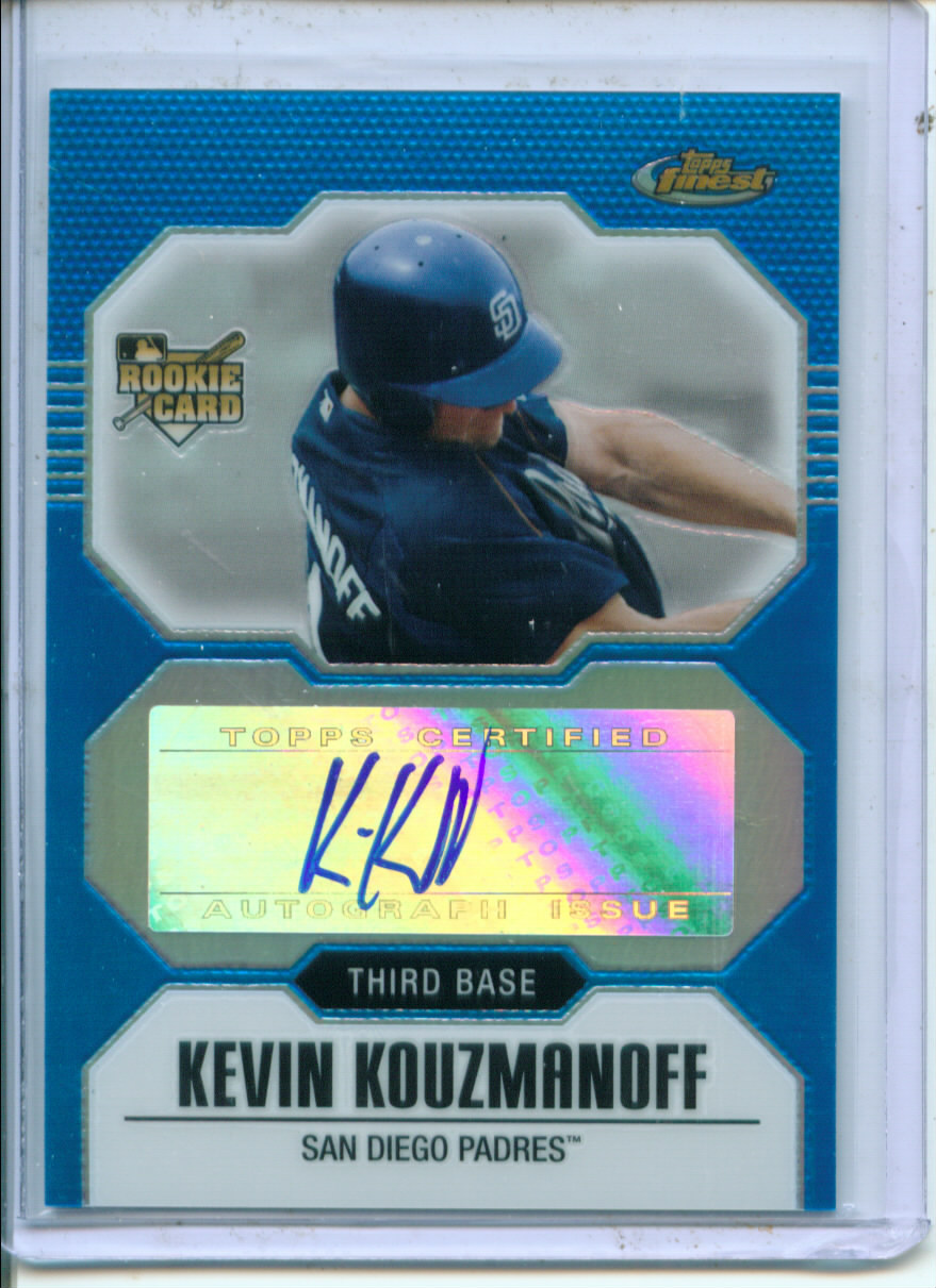 2007 Finest Refractors Blue #154 Kevin Kouzmanoff AU