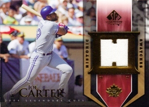 2004 SP Legendary Cuts Historic Swatches #JC Joe Carter Jsy