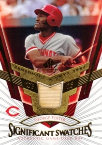2004 SP Legendary Cuts Significant Swatches #GF George Foster Bat