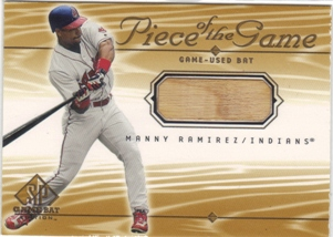 2001 SP Game Bat Edition Piece of the Game #MR Manny Ramirez